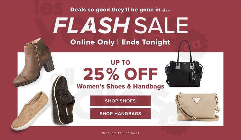 Hudson's Bay Flash Sale Shoes