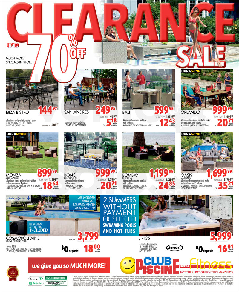 Club Piscine - Clearance 70% off   allsales ca
